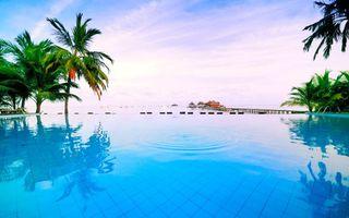 Фото бесплатно пейзажи, тропики, бассейн