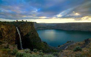 Бесплатные фото вода, река, водопад, озеро, небо, облока, дорога