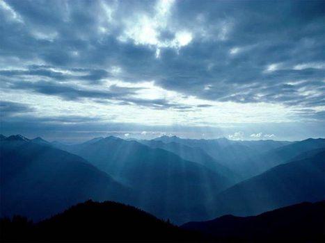 Фото бесплатно свет, горы, солнце