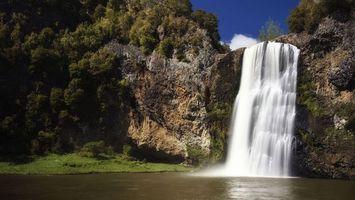 Фото бесплатно водопад, гора, брызги