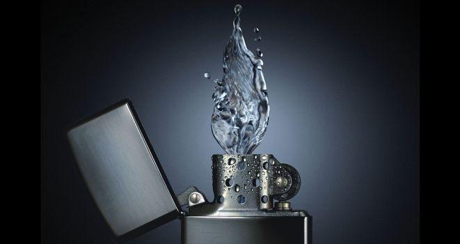 Photo free zippo, lighter, water
