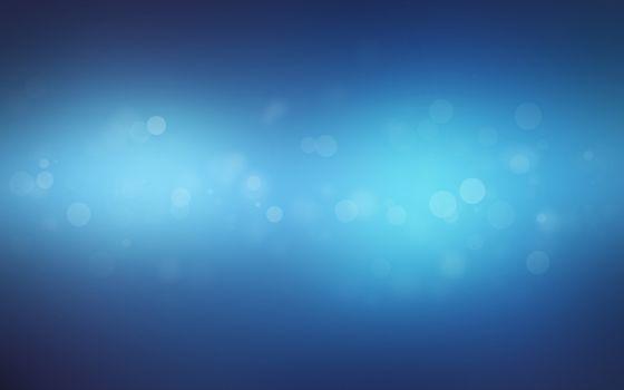 Заставки абстракция, огоньки, синий фон