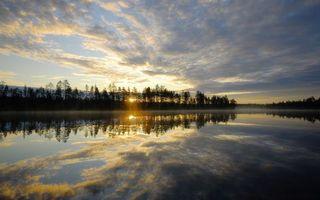 Бесплатные фото восход,солнце,облака,лучи,река,туман,деревья