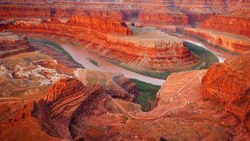 Бесплатные фото горы,песчанники,красные,каньон,река,природа,пейзажи