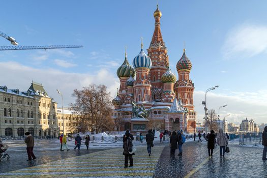 Free photo of st. basil`s cathedral, moscow - desktop