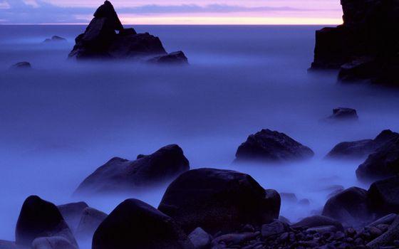 Фото бесплатно камни, скалы, туман