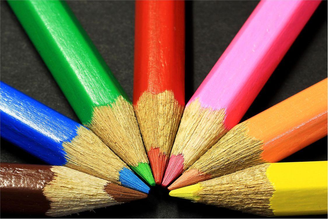 Фото бесплатно карандаши, цветные, колорит, разное - скачать на рабочий стол