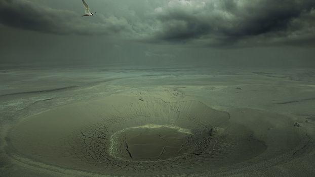 Фото бесплатно котлован, песок, небо