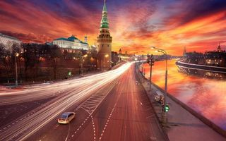 Бесплатные фото москва,кремль,башня,река,дорога,машины,город