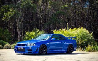 Бесплатные фото nissan,синий,тюнинг,машины