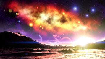 Фото бесплатно неизведанные миры, обои на рабочий стол, галактика