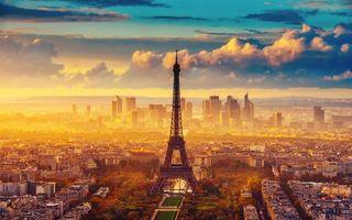 Фото бесплатно париж, башня, дома