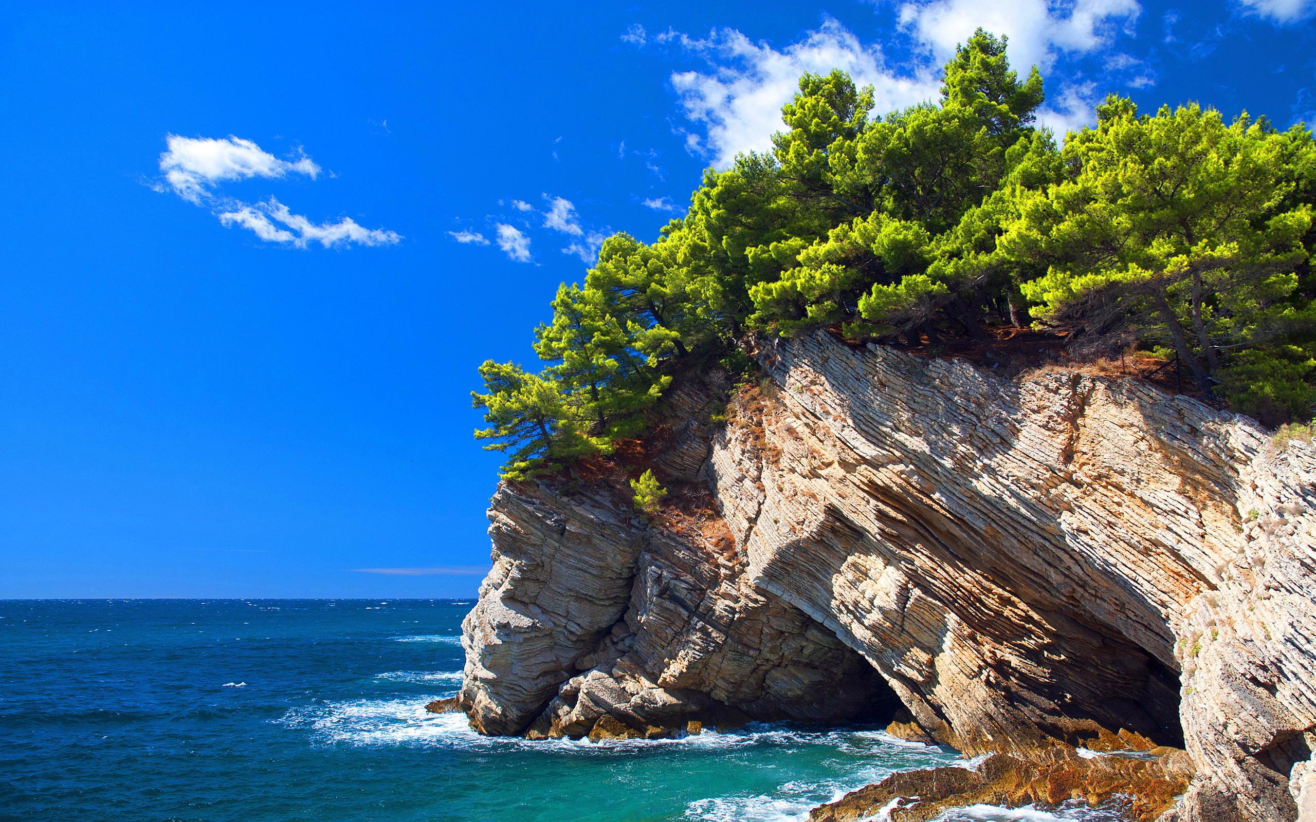 пейзаж, море, скалы