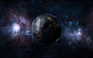 Фото бесплатно планета, луна, новые миры