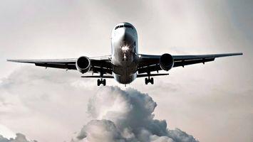 Бесплатные фото самолет,пассажирский,небо,крылья,двигатель,кабина,стекло