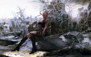 Бесплатные фото the 3rd birthday,девушка с автоматом,катаклизм,постапокалипсис,игры