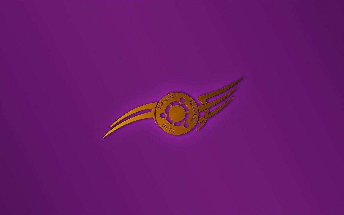 Screensaver ubuntu, pink, background, logo, maverick