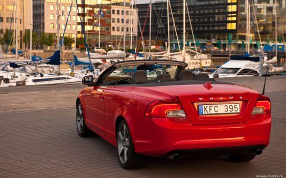 Бесплатные фото volvo,красный,кабриолет,машины