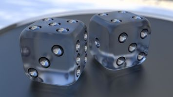 Transparent dice · free photo