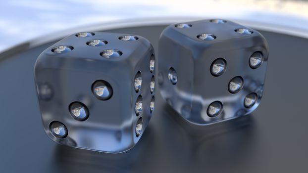 Прозрачные игральные кости · бесплатное фото