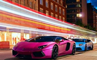 Photo free car, pink, road