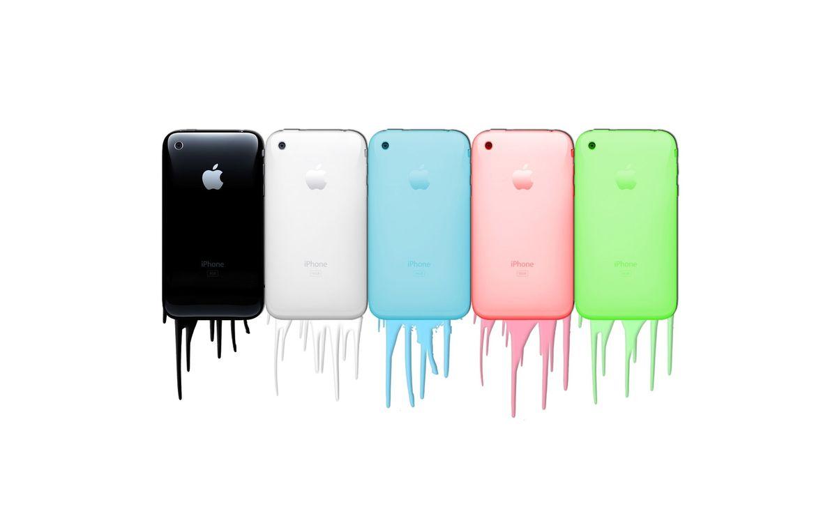 Фото бесплатно айфоны, аппле, краска - на рабочий стол