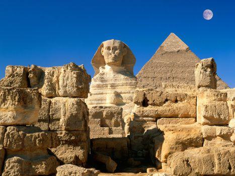 Фото бесплатно египет, пирамиды, небо