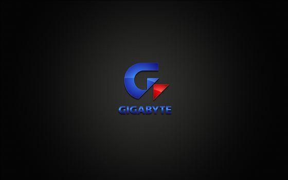 Бесплатные фото gigabite,логотип,компания,черный фон,hi-tech
