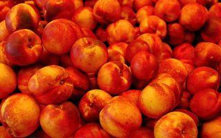 Фото бесплатно фрукты, персики, спелые, сочные, вкусные, еда