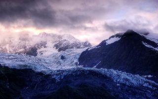 Заставки горы, снег, облака