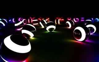 Бесплатные фото круги,шары,свет,полоски,цвет,фон,черный