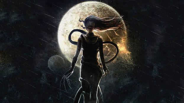 Фото бесплатно луна, чудище, когти
