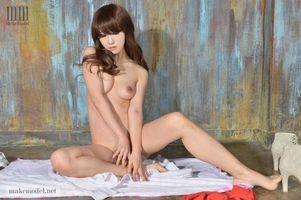 Фото бесплатно азиатка, обнаженная девушка, Мина