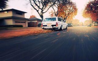 Фото бесплатно осень, дорога, листья