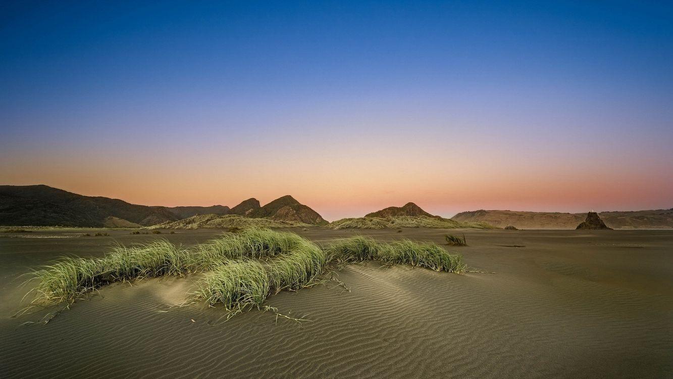 Фото бесплатно песок, волны, трава - на рабочий стол