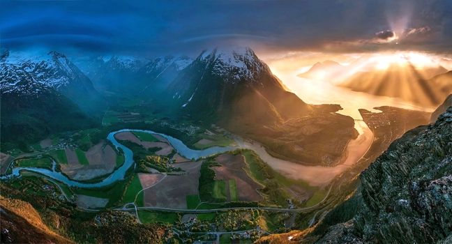 Заставки пейзажи, горы, солнце