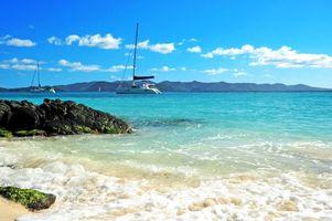 Обои пейзаж, море, яхты, пейзажи