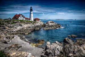 Photo free Portland Head Light, Portland Head Lighthouse, Maine