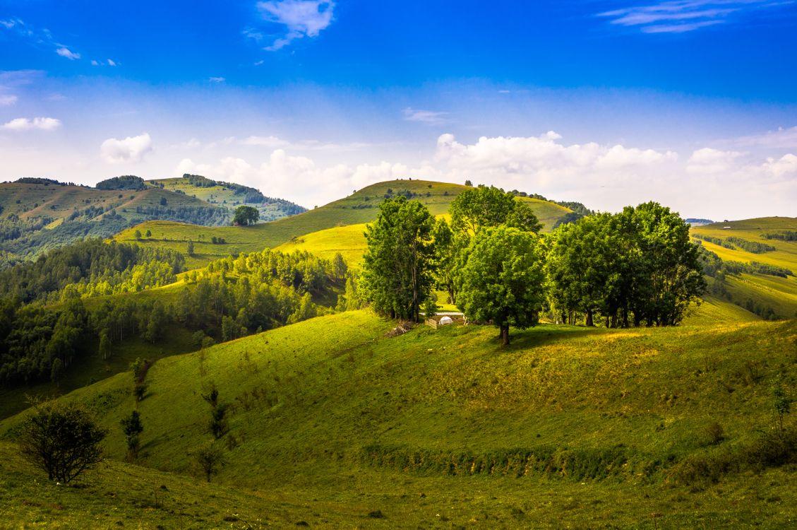 Фото бесплатно холмы, пейзаж, румыния - на рабочий стол