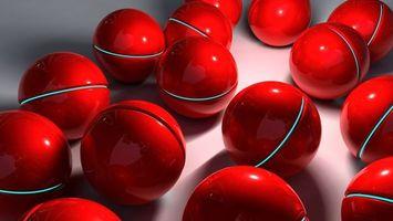 Бесплатные фото шары,отражение,тень,свет,блик,фон,3d графика