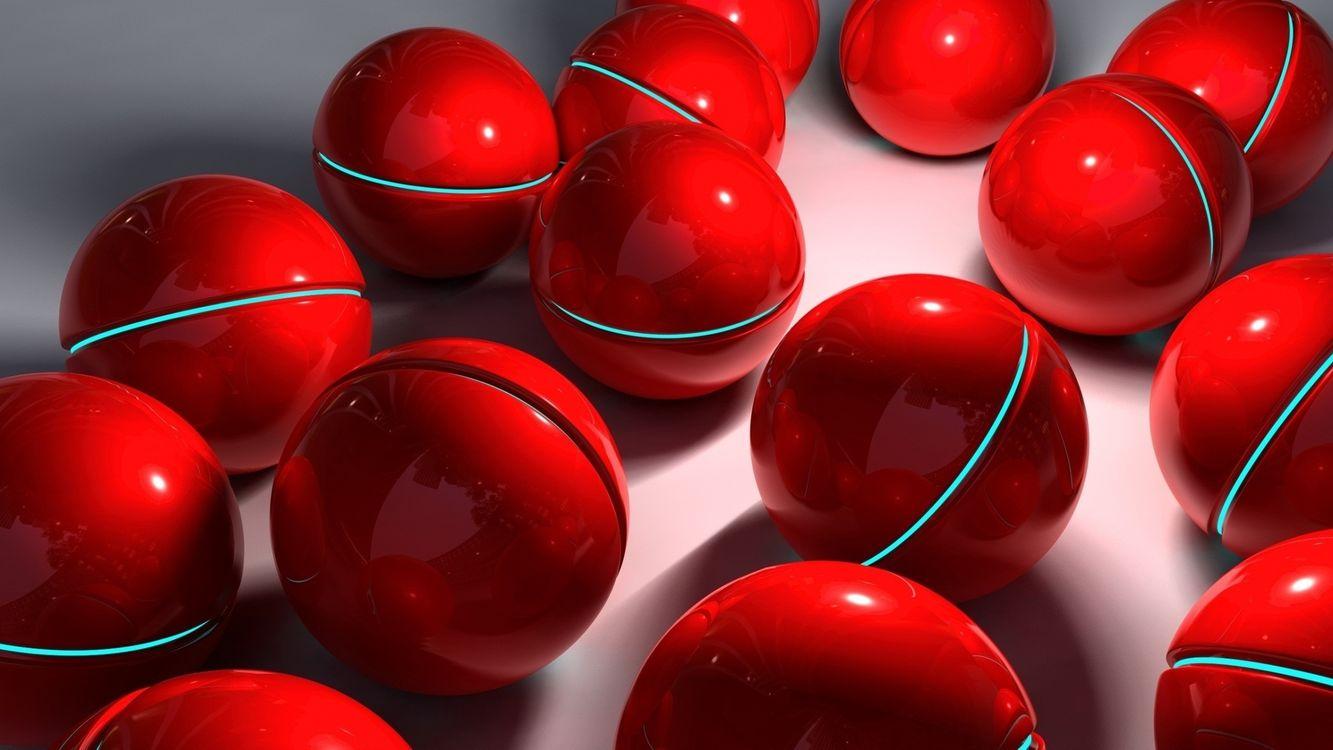 Фото бесплатно шары, отражение, тень, свет, блик, фон, 3d графика, 3d графика