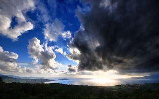 Бесплатные фото солнце,грозовые,тучи,облака,горизонт,вид с холма,возвышенность