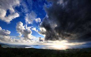 Photo free sun, stormy, clouds