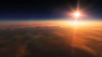 Фото бесплатно солнце, светит, небо