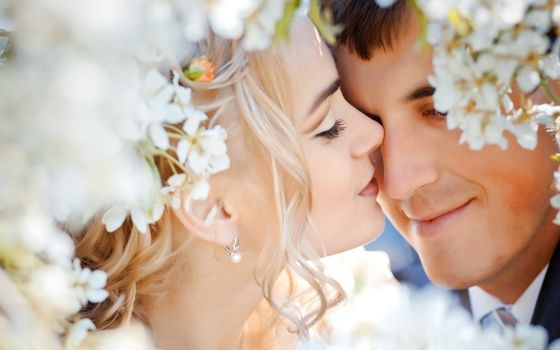Фото бесплатно свадьба, цветы, пара