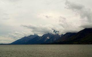 Бесплатные фото вода,горы,озеро,вершины,облака,тучи,склоны
