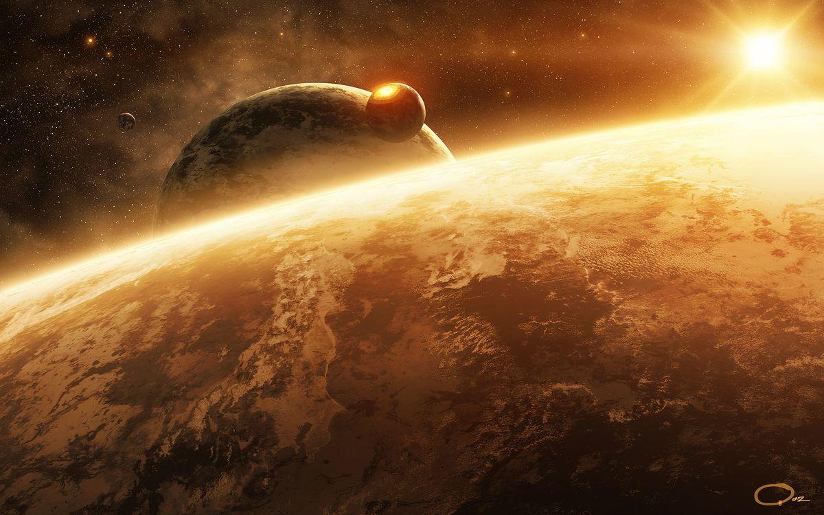 Фото бесплатно земля, планета, звезды, туманность, галактика, луна, солнце, марс, бесконечность, вакуум, свет, вид, спутник, космос, космос