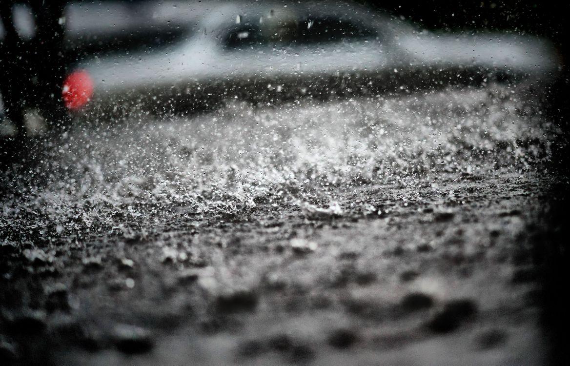 Фото бесплатно обои, лужа, город, дождь, разное