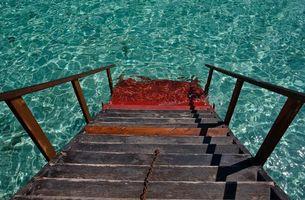 Бесплатные фото лестница,ступеньки,спуск,озеро,вода,прозрачная,разное