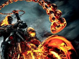 Бесплатные фото призрачный,гонщик 2,цепь,скелет,мотоцикл,огонь,фильмы